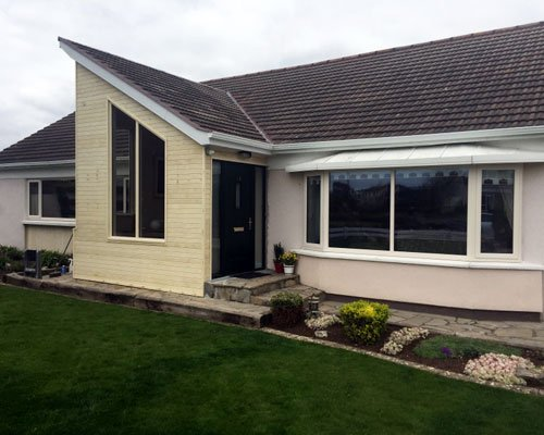 Photo of modern bungalow extension with window installed by Aspect Joinery