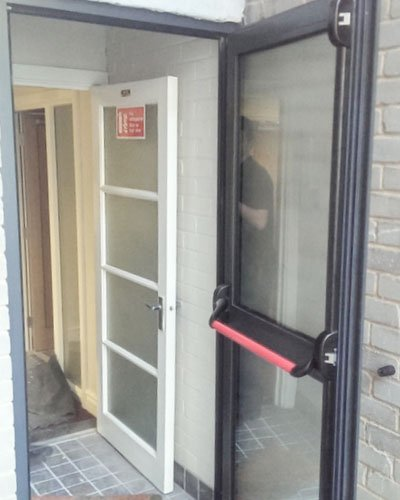 Emergency exit door installed by Aspect Joinery
