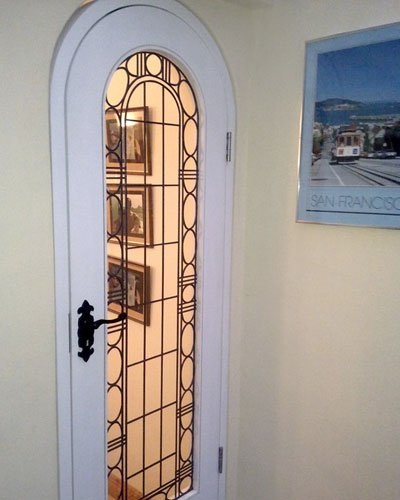 Photo of decorative interior door installed by Aspect Joinery